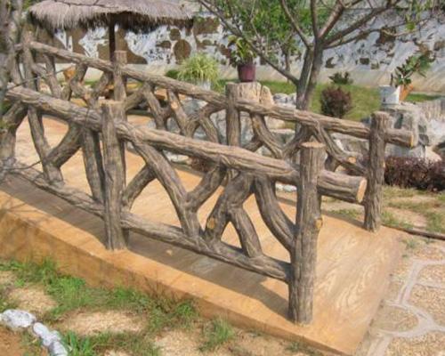 水泥仿木树桩栏杆
