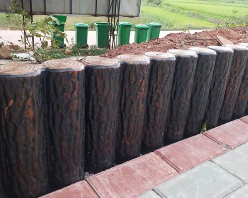 水泥仿树桩护栏
