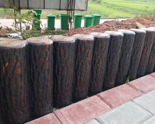 兴国水泥仿树桩护栏