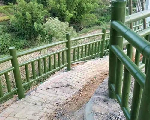 仿竹护栏案例