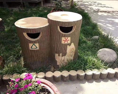 水泥垃圾桶案例